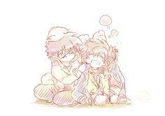 Kaito and Aoko --Magic Kaito--