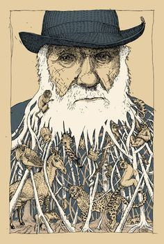 love for darwin, and his fancy beard.