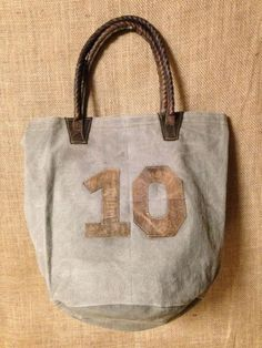 #10 Canvas Bag Gray/Brown