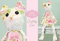 Cuddly Cat DIY - So cute!  Sew the eyes instead of using buttons and it would make an adorable baby gift!