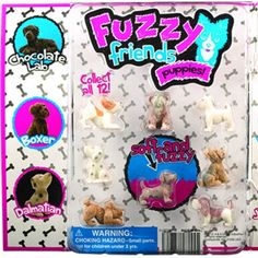 """Fuzzy Friends Puppies Series #2 2"""" Capsules"""
