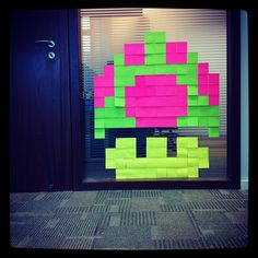 Mushroom Post-it Art