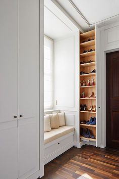 40 diy wood project home decorations from smart closet designs to console ta Wardrobe Design Bedroom, Closet Bedroom, Bedroom Decor, Smart Closet, Shoe Closet, Barndominium Floor Plans, Metal Building Homes, Closet Designs, House Floor Plans