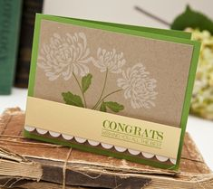 Floral Congrats Card by Ashley Cannon Newell for Papertrey Ink (August 2013)
