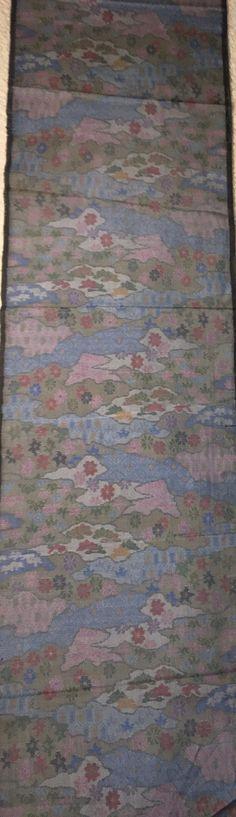 "6512: 1980's Japanese Tsumugi Silk fabric 63"" Piece (Arai-Hari) #bulkkimono #instasew #instaquilt #japanesefabric John Marshall, Traditional Japanese Kimono, Grey Clouds, Text Color, Vintage Japanese, Silk Fabric, Overlays, 1980s, Catalog"