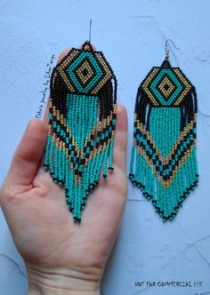 Beaded Earrings Native, Beaded Earrings Patterns, Seed Bead Earrings, Boho Earrings, Etsy Earrings, Earrings Handmade, Seed Beads, Crochet Earrings, Native Beading Patterns