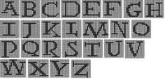 Free Harry Potter Alphabet for Knitting