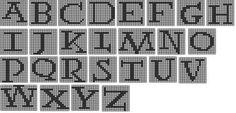 Free Harry Potter Alphabet for Knitting