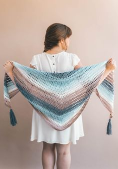 Free crochet pattern - the wishing well wrap! A simple crochet wrap pattern made with cake yarns and easy stitches to create a simple, stunning wrap shawl.