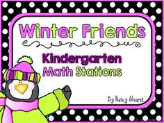 New Product Flash Sale! Winter Kindergarten Math Stations - Teaching with Nancy | Teaching with Nancy