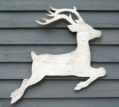 Decoración de Navidad en madera: fotos ideas originales - Reno de madera