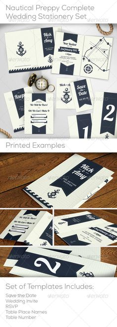 Free Printable Nautical Invitation Suite   Invitations   Pinterest ...