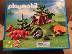Playmobil 4204 Forest Animal Lodge Cave NRFB Retired RARE #PLAYMOBIL