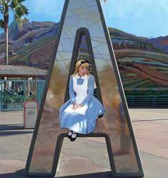 "redesignrelated: Disney's California Adventure theme park entrance is receiving a redesign. ""Alice Is Bummed That The Letters Are Going Awa. Disney Dream, Disney Love, Disney Magic, Disney And Dreamworks, Disney Pixar, Alice Disney, Walt Disney, Mickey Mouse, Famous Castles"