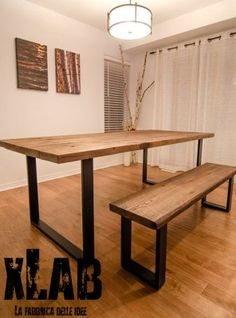 tavolo da pranzo in legno vintage