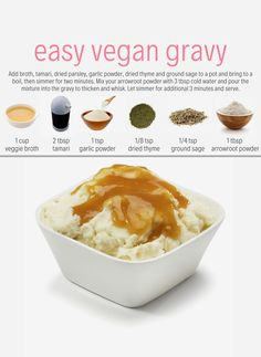 This vegan gravy is delicious and easy to make for your holiday feast or anytime you need a delicious gravy to your main or side dish. We love a good mashed potatoes and gravy recipe at Plant You! Easy Gravy Recipe | Vegan Holiday Recipes | Vegan Mashed Potatoes | Vegan Gravy | Mushroom Gravy #healthygravy #poutinegravy #veganpoutinegravy #vegangravyrecipe #glutenfreedairyfreegravy #glutenfreevegangravy #easygravyrecipes