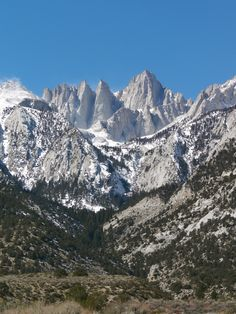 Mount Whitney. Lone Pine, CA. Highest point in contiguous US.--I wasn't at the top, but I bought a shirt at the gift shop at the bottom.  :o)