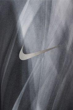 Nike - Power Epic Run Mesh-trimmed Printed Stretch Leggings - Charcoal - x large