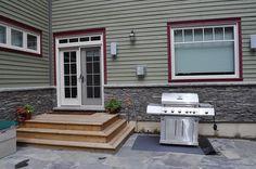 Back door deck steps wooden