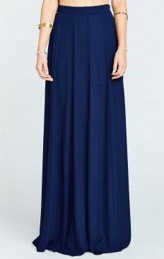 Princess Ariel Ballgown Maxi Skirt ~ Rich Navy Crisp
