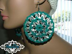 Circle Pop Tab Crochet Earrings