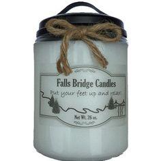 """FallsBridgeCandles MacIntosh Apple Jar Candle Size: 6.5"""" H x 4"""" W x 4"""" D"""