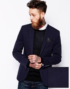 Image 1 of ASOS Slim Fit Blazer In Jersey