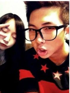 BTS RAP MONSTER AND HIS SISTER