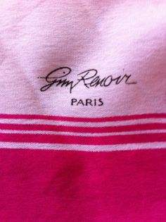 """Gim Renoir Paris Pink Polyester 52 x 11"""" Scarf Italy in Clothing, Shoes & Accessories, Women's Accessories, Scarves & Wraps   eBay"""