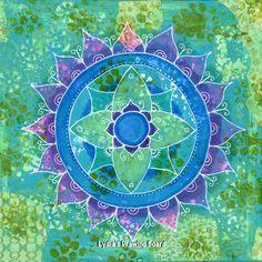 Mandala Turquoise Art Print by Lydiasdrawingboard on Etsy