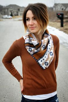 10 minute Bandanna Scarf Tutorial | Brassy Apple | Bloglovin'