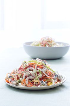 Raw Apple, Fennel, and Carrot Spiralized Salad