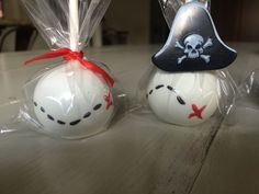 Pirate themed cake pops