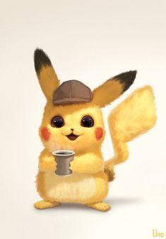 Detective Pikachu is so Cute ^^ Pikachu Pikachu, Pikachu Kunst, Baby Pokemon, Pokemon Memes, Pokemon Soulsilver, Cute Cartoon Pictures, Cute Pictures, Beautiful Pictures, Cute Little Animals