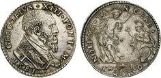 NumisBids: Numismatica Varesi s.a.s. Auction 65, Lot 758 : GREGORIO XIII (1572-1585) Testone 1581, Ancona. D/ Busto del...