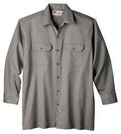 Dickies Men's Long-Sleeve Work Shirt at Amazon Men's Clothing store: Button Down Shirts