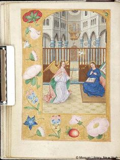 Book of Hours, MS M.116 fol. 27v - Images from Medieval and Renaissance Manuscripts - The Morgan Library & Museum