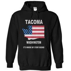 Tacoma - Washington - #gift for her #boyfriend gift. THE BEST => https://www.sunfrog.com/Camping/Tacoma--Washington-Black-Hoodie.html?id=60505