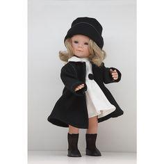 Кукла Мариэтта в белом платье и классическом пальто, Carmen Gonzalez