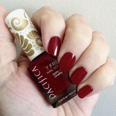 """bde116d528d Denise Sutherland on Instagram  """"Pacifica 7 Free nail polish. Red Red Wine.  Love this colour!  Pacifica  nailpolish  7free  nourishedlife"""""""