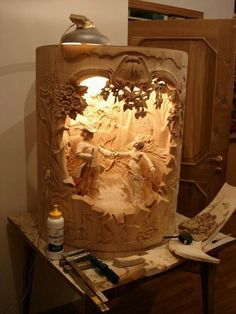 Wood carving supreme, just picture. Tree Carving, Wood Carving Art, Wood Art, Wood Projects, Woodworking Projects, Project Projects, Wood Gifts, Wood Creations, Wood Sculpture