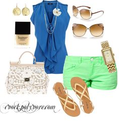 """""""summer brights"""" by cvock on Polyvore"""