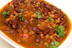 vegansk chili sin carne oppskrift Chili Sin Carne, Quesadilla, Paella, Plant Based, Vegan Recipes, Soup, Cooking, Alternative, Soups