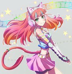 いえすぱ (@mojojoj27827860) | Twitter, awww, neon with long hair!!