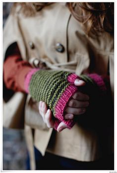Knitted fingerless gloves To Amy from heather