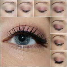 Urban Decay NAKED3 tutorial 1. Prime you eyelids and curl your eyelashes. 2. Apply Limit all over your lids. 3. Add Buzz to the center of your lids. 4. Sweep Nooner along the outer side/corners of your lids. 5. Add a touch of Blackheart to the very corner of your lids. 6. Finish up by adding Strange to the inner corners of your eyes and the brow bone. Line your eyes. 7. Add mascara.