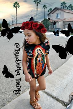 Little Girl Outfits, Cute Outfits For Kids, Toddler Outfits, Baby Boy Outfits, Cute Small Girl, Cute Baby Girl, Fiesta Outfit, Mexican Outfit, Baby Girl Romper