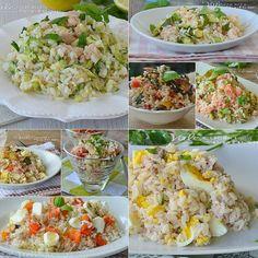 Rice Salad, Soup And Salad, Pasta Recipes, Cooking Recipes, Vegetarian Recipes, Healthy Recipes, Italian Salad, Cold Meals, Rice Dishes