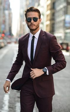 Thelavishsociety: the burgandy suit by adam gallagher lvsh like it в 2019 г Fashion Mode, Suit Fashion, Mens Fashion, Style Fashion, Ootd Fashion, Trendy Fashion, Fashion News, Fashion Trends, Burgandy Suit