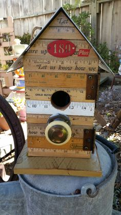 Someone like the ruler birdhouse I previously made and wanted one for herself.  All proceeds to to Retrievers and Friends of Southern Ca.